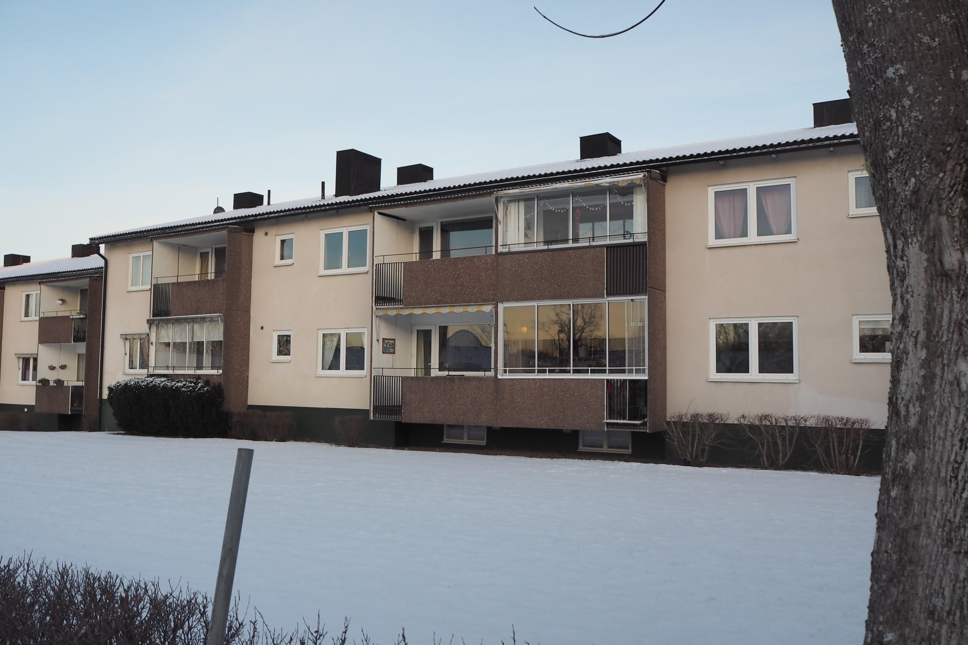 Bostad andra våning utan inglasad balkong