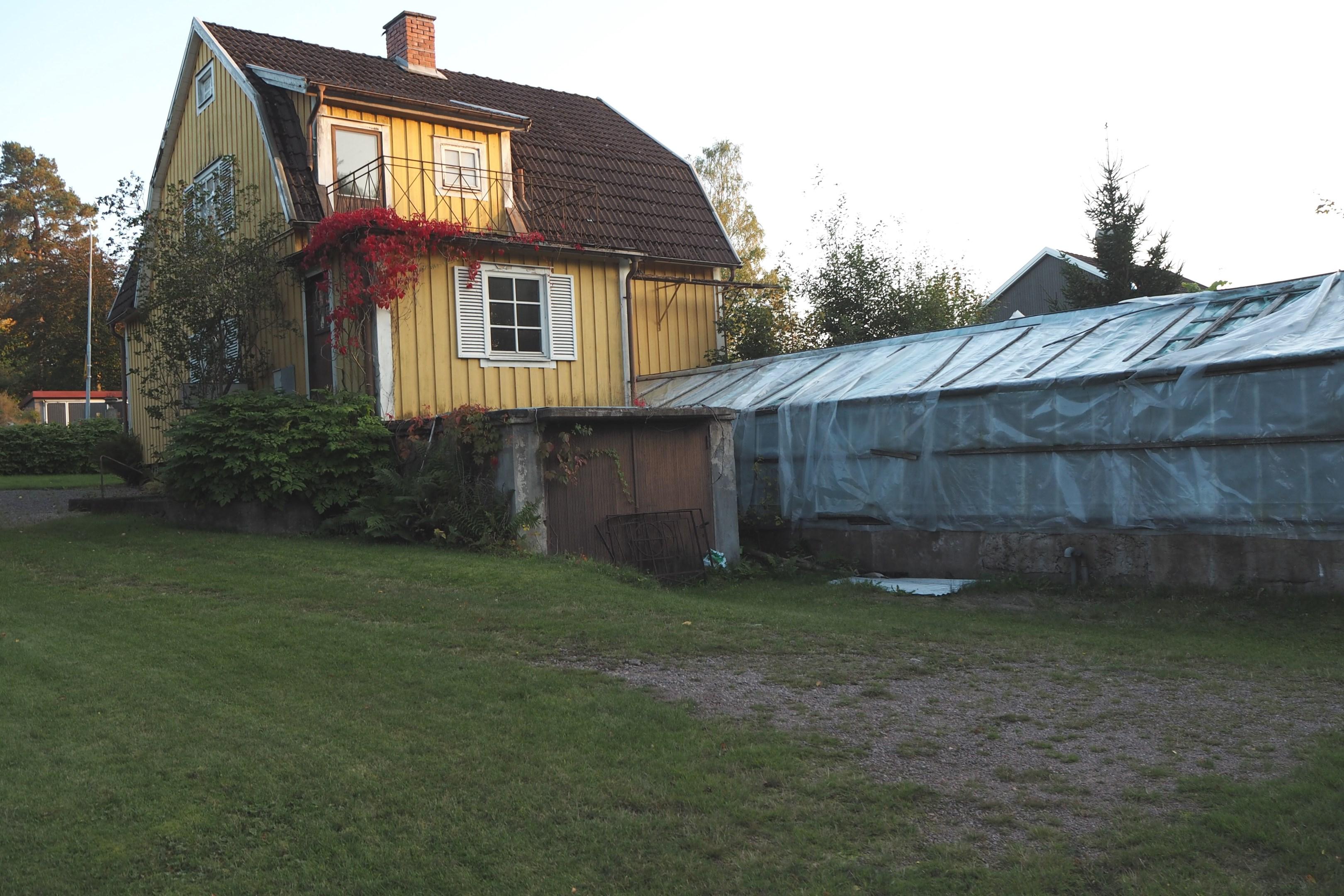 Bostad med växthus
